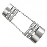 Кольцо на две фаланги из серебра 01К158089