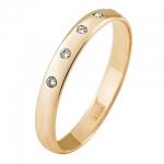 Обручальное кольцо с бриллиантами 36K5-R