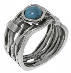 Кольцо из серебра Deno с бирюзой MVR1447TQ