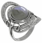 Кольцо из серебра с лабрадором 01R961LB