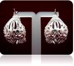 Серебряные серьги Чоху Узор Утум CСH016