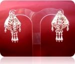 Серебряные серьги Чоху Узор Утум CСH010