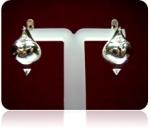 Серебряные серьги Чоху Узор Утум C0387