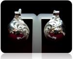 Серебряные серьги Чоху Узор Утум CCH018