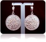 Серебряные якутские серьги Узор Утум C017