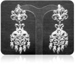 Серебряные якутские серьги Узор Утум C242