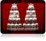 Серебряные якутские серьги Узор Утум CH020