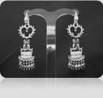 Серебряные якутские серьги Узор Утум CH021