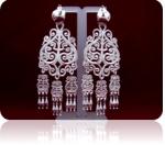 Серебряные якутские серьги Узор Утум CH032