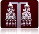 Серебряные якутские серьги Узор Утум CH035