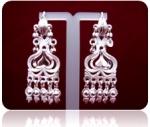 Серебряные якутские серьги Узор Утум CH033