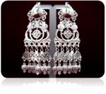 Серебряные якутские серьги Узор Утум CH049