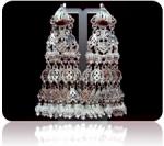 Серебряные якутские серьги Узор Утум CH050