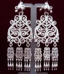 Серебряные якутские серьги Узор Утум CH063