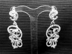 Серебряные якутские серьги Узор Утум CH147