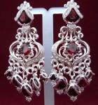 Серебряные якутские серьги Узор Утум CH098