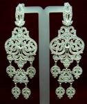 Серебряные якутские серьги Узор Утум CH138