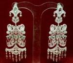 Серебряные якутские серьги Узор Утум CH139