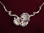 Серебряное якутское колье Узор Утум L022-1