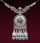 Серебряное якутское колье Узор Утум L023