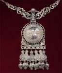 Серебряное якутское колье Узор Утум L024