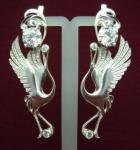Якутские серебряные серьги Узор Утум CH143