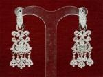 Серебряные якутские серьги Узор Утум CH149