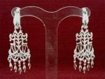 Серебряные якутские серьги Узор Утум CH152