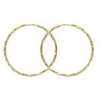 Серьги Конго из желтого золота 01С035684