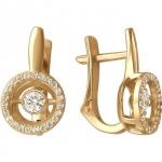 Серьги из золота с фианитами 01С117959