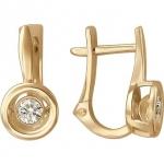 Серьги из золота с фианитами 01С117960