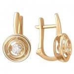 Серьги из золота с фианитами 01С117961