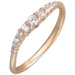 Кольцо золотое с фианитами 01К118511
