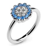 Серебряное кольцо Sandara Ice с фианитами XCR147