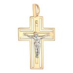 Подвеска крестик золотой с бриллиантом 01Р660663