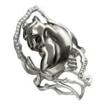 Кольцо серебряное Пантера 01К158358