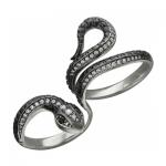 Кольцо серебряное Змея 01К258356