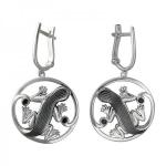 Серьги серебряные Ящерица 01С258381