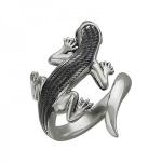 Кольцо серебряное Ящерица 01К258381