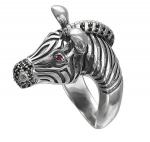 Кольцо серебряное Зебра 01К258373