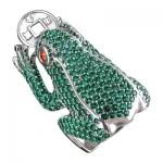 Кольцо серебряное Лягушка 01К258382