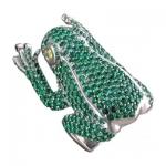 Кольцо серебряное Лягушка 01К258978