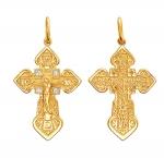 Крест серебряный нательный 01Р150956А
