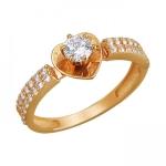 Кольцо из красного золота 01К1110977