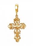 Крест серебряный нательный 01Р150610А