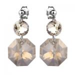 Серебряные серьги Monella с кристаллами Сваровски MOE359
