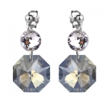 Серебряные серьги Monella с кристаллами Сваровски MOE356