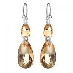 Серебряные серьги Monella с кристаллами Сваровски MOE351