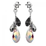 Серебряные серьги Monella с кристаллами Сваровски MOE344