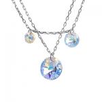 Серебряные колье Monella с кристаллами Сваровски MON342